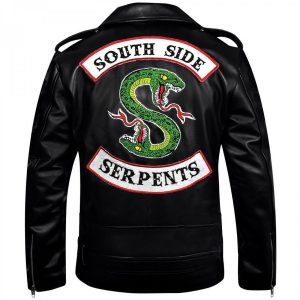 Men's Jughead Jones Biker Black Leather Southside Serpents Riverdale Jacket Free Shipping 2020