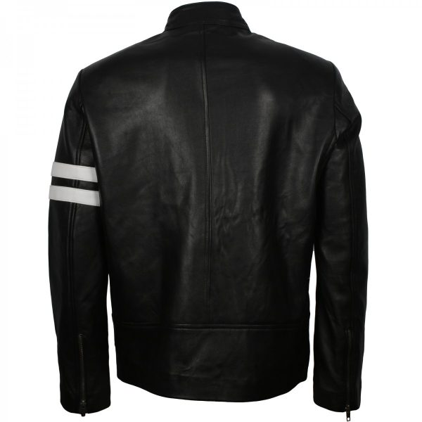 Dominic Toretto Fast and Furious 8 Vin Diesel Biker Black Leather Jacket Free Shipping Gifts for Him Hot Sale