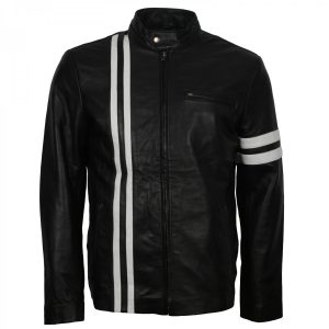 Dominic Toretto Fast and Furious 8 Vin Diesel Biker Black Leather Jacket Motorrad jacke