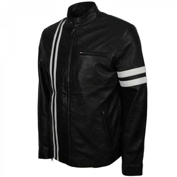 Dominic Toretto Fast and Furious 8 Vin Diesel Biker Black Leather Jacket sale UK USA Europe