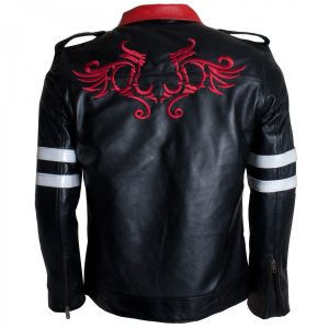 Mens Black Leather Alex Mercer Game Prototype Jacket Cosplay Costume