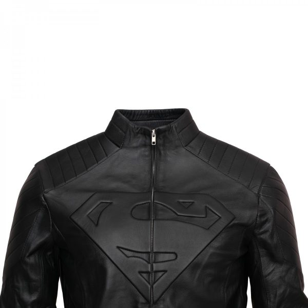 Mens Fashion Smallville Superman Leather Jacket Cosplay Costume