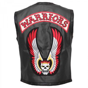 Michael Beck Ajax Biker Black The Warriors Vest Leather Jacket Free Shipping lederjacke herren