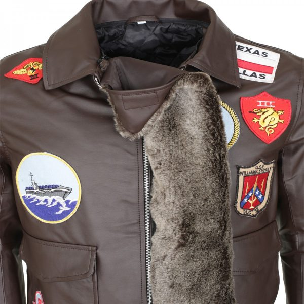 Tom Cruise Bomber Aviator Top Gun Leather Jacket