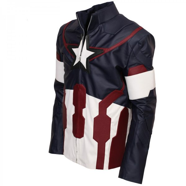 Age Of Ultron Captain America Leather Jacket Avengers Costumes