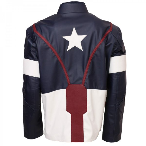 Age Of Ultron Captain America Leather Jacket Avengers Costumes for cosplay on Sale for Comic Con