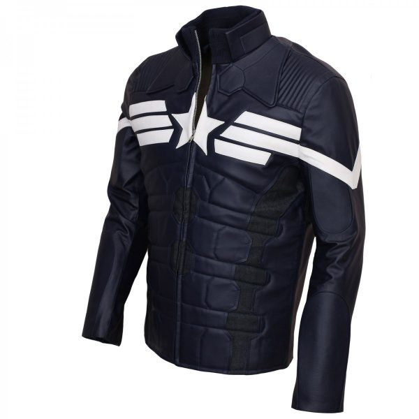 Captain America Leather Jacket Mens Winter Soldier Costume Shop now Halloween Costume Cosplay