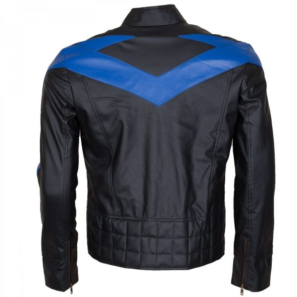 Dick Grayson Nightwing Leather Jacket Batman Arkham knight Costume Halloween Gifts for Him