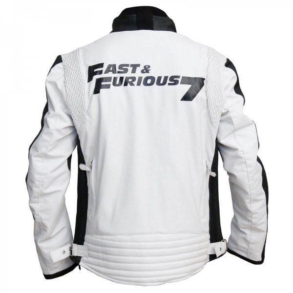 Fast and the Furious 7 Inspired Vin Diesel Leather Jacket Free Shipping UK USA Australia