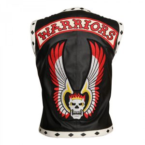Mens Motorbike The Warriors Vest Leather Jacket on Sale from theJacketMerchant