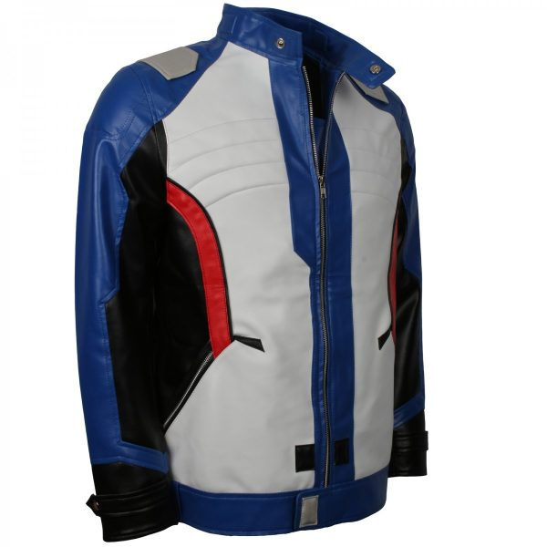 Mens Overwatch Leather Jacket Soldier 76 Cosplay Costume in Hot Sale this Comic Con