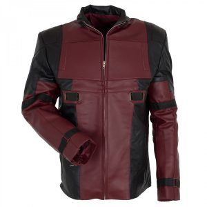 Men's Ryan Reynolds Maroon Leather Deadpool Jacket Costume in Hot Sale deadpool cosplay costume