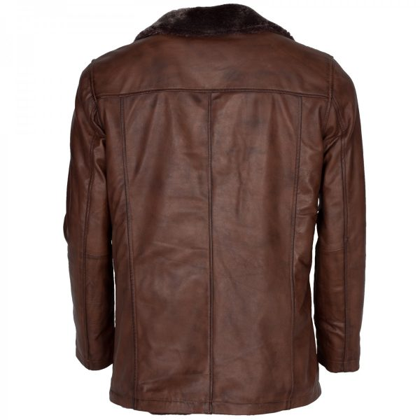 X-Men Origins Wolverine Leather Jacket Brown Shearling Winter Coat Free Shipping Gifts for Him