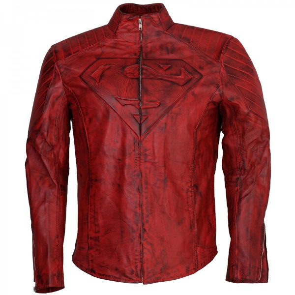 Clark Kent Costume Red Smallville Superman Leather Jacket Shop now Cosplay Costume Sale