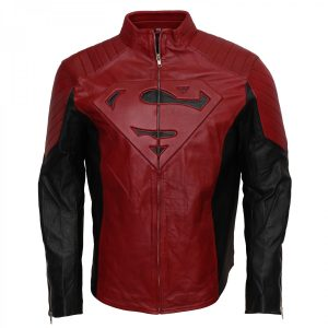 Mens Celebrity Smallville Red Superman Jacket Costume Shop now with free shipping UK USA Europe