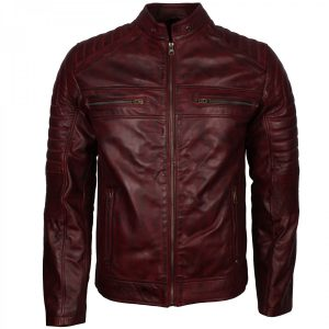 Schott Perfecto Men's Vintage Distressed Leather Cafe Racer Jacket
