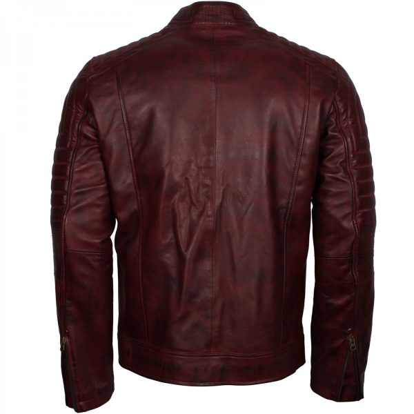 Schott Perfecto Men's Vintage Distressed Leather Cafe Racer Jacket Free Shipping UK USA Europe