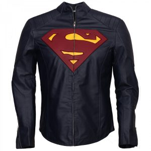 Clark Kent Man Of Steel Blue Superman Leather Jacket Cosplay Costume Comics DC