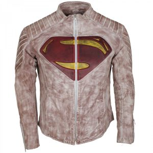 Man Of Steel Superman Leather Jacket Clark Kent Costume Black Friday Sale UK USA Europe Canada