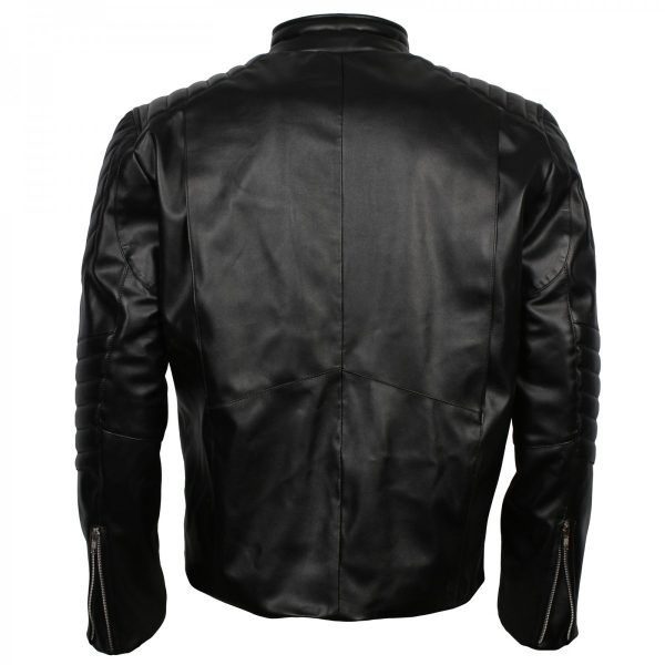 Men's Black Faux Leather The Punisher Skull Jacket Costume Halloween Gifts for Him